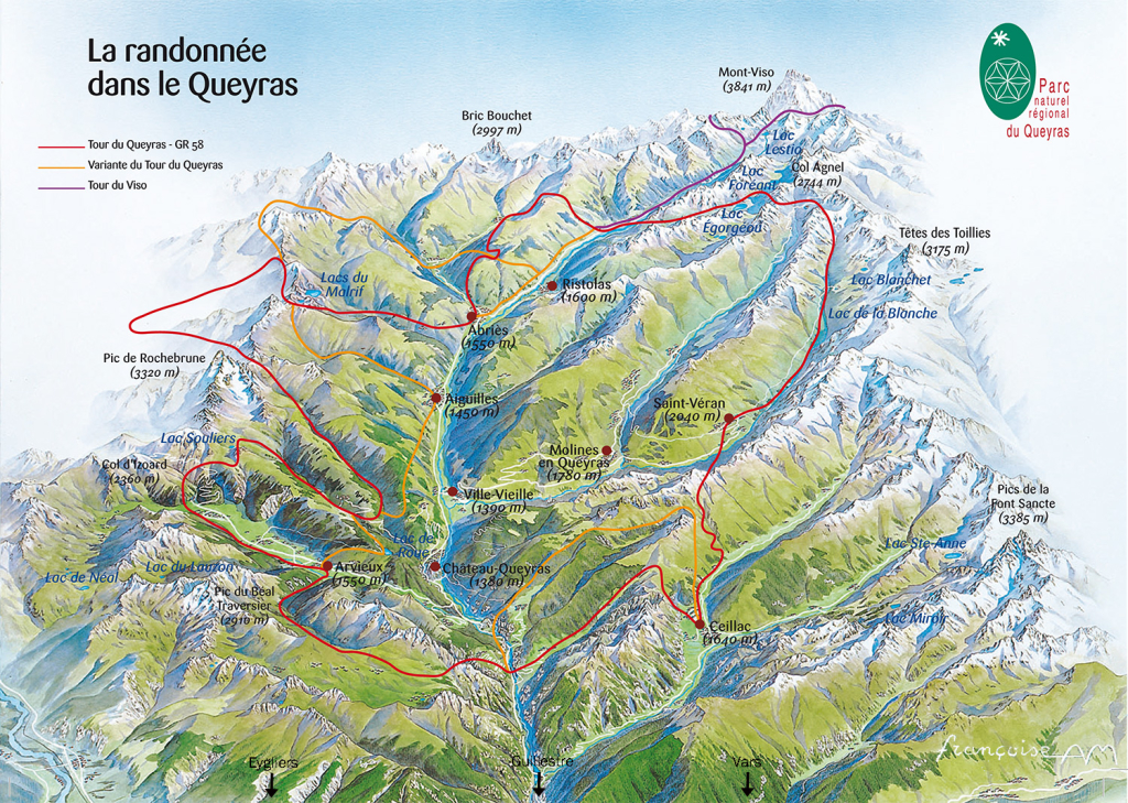Plan du Queyras
